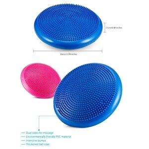 Image 4 - حار 3C Yoga الأزرق متوازنة الحصير ضمادة مساج وسادة التوازن القرص التوازن الكرة الشغب اليوغا وسادة الكاحل إعادة تأهيل حشوة وسادة