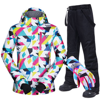 Ski Suit Women -30°C Winter Jacket And Pants Warm Waterproof Skiing Snowboarding Suits Womens Clothing  Brands
