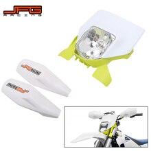 Motorcycle 2021 Headlight Headlamp Head Lamp Light And Handguard For Husqvarna FE250 FE350 FE450 FE501 TE250i TE300i 2020 2021