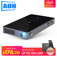 Brand AUN Android 7.1. Smart Projector(Optional 2G+32G Memory) with WIFI,Bluetooth. MINI Video Projector D5S (Optional D5 white)