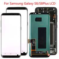 Original S8 Plus LCD For Samsung Galaxy S8 LCD Display Screen Frame Assembly S8 Plus SM G950F G955F LCD Display With Black Dot