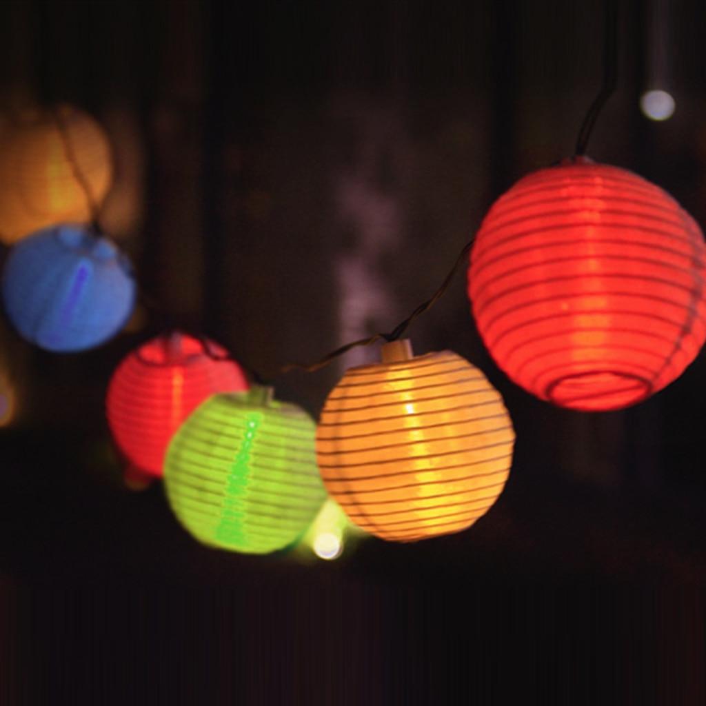 10 LED Solar Outdoor Lighting Party Home Decorative DIY Lantern Balls Chinese Lantern Wedding Engagement Christmas Lamps Lights