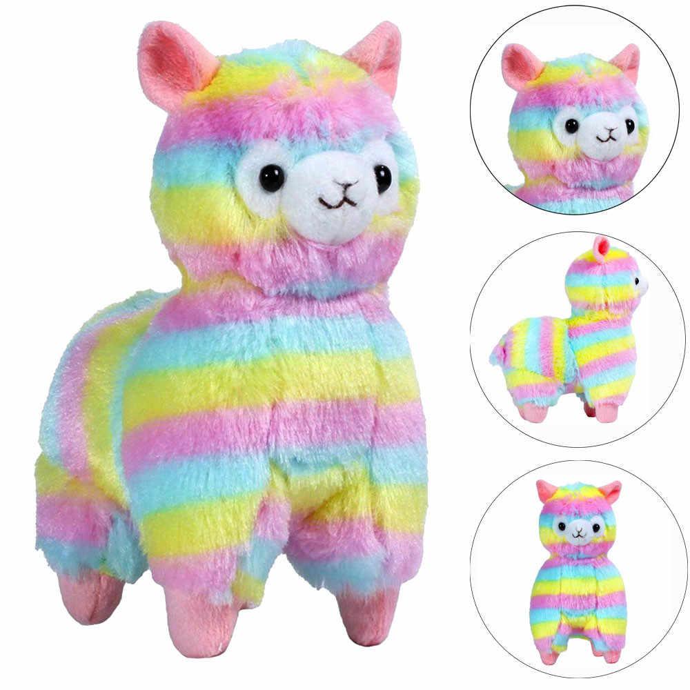13 см Kawaii Радужная Альпака подвесная плюшевая кукла мягкая красочная игрушка Альпака симпатичный брелок подарок для маленьких девочек