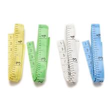 2 sztuk partia 60 Cal 1 5M miękkie płaskie ciało linijka pomiarowa wysokiej jakości szycia krawiec taśma miernicza losowy kolor hurtownie tanie tanio ZLinKJ Maszyny do obróbki drewna NONE CN (pochodzenie) other Tape Measures