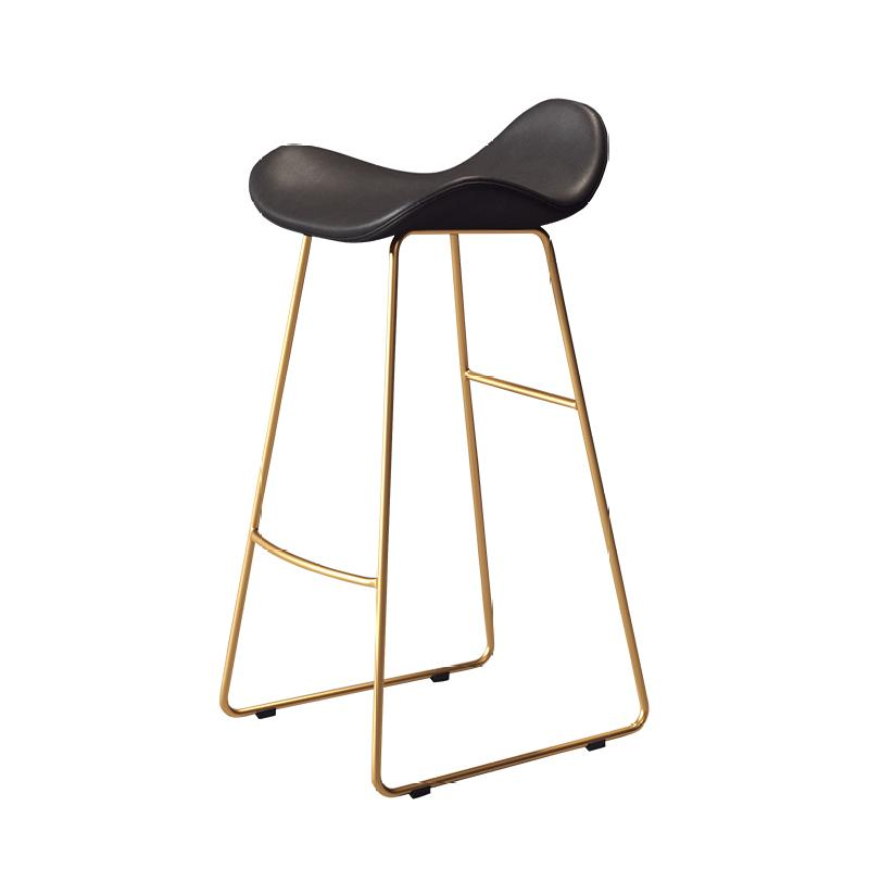 Northern Europe Light Luxury Ins Bar Chair,   Simple Fashion   Stool, Backrest, High  Net Red  Stool