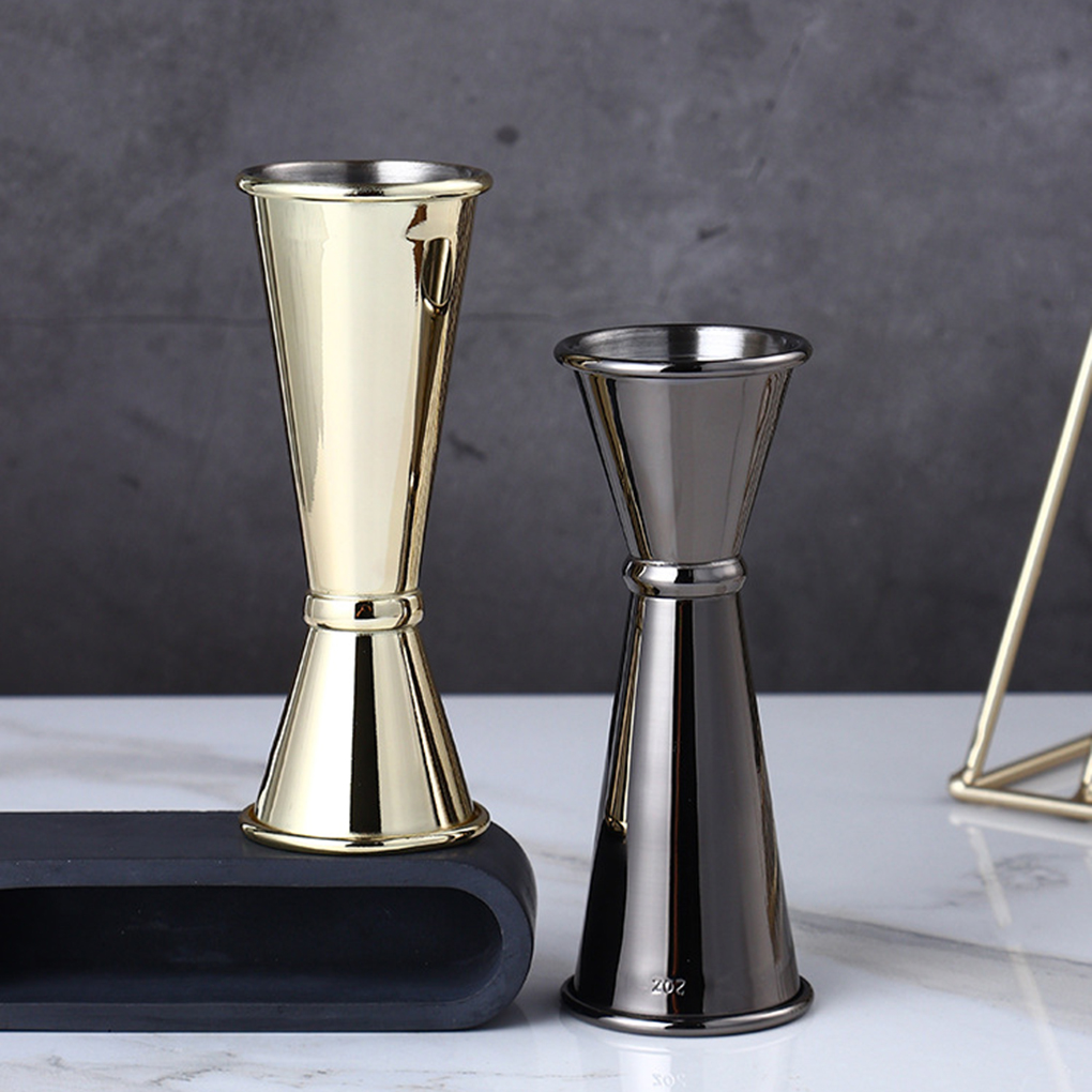 Cocktail Bar Jigger Design Japanese Stainless Steel Measuring Cup Jigger Double Spirit Bartender 3