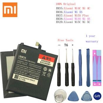 BM35 BM36 BM37 BM38 BM20 Battery For Xiaomi Mi 4C 5C 4S 5S Plus Mi4C Mi5S Mi5C Replacement Lithium Polymer Bateria + Free Tools mythology for xiaomi 5c mi5c big back