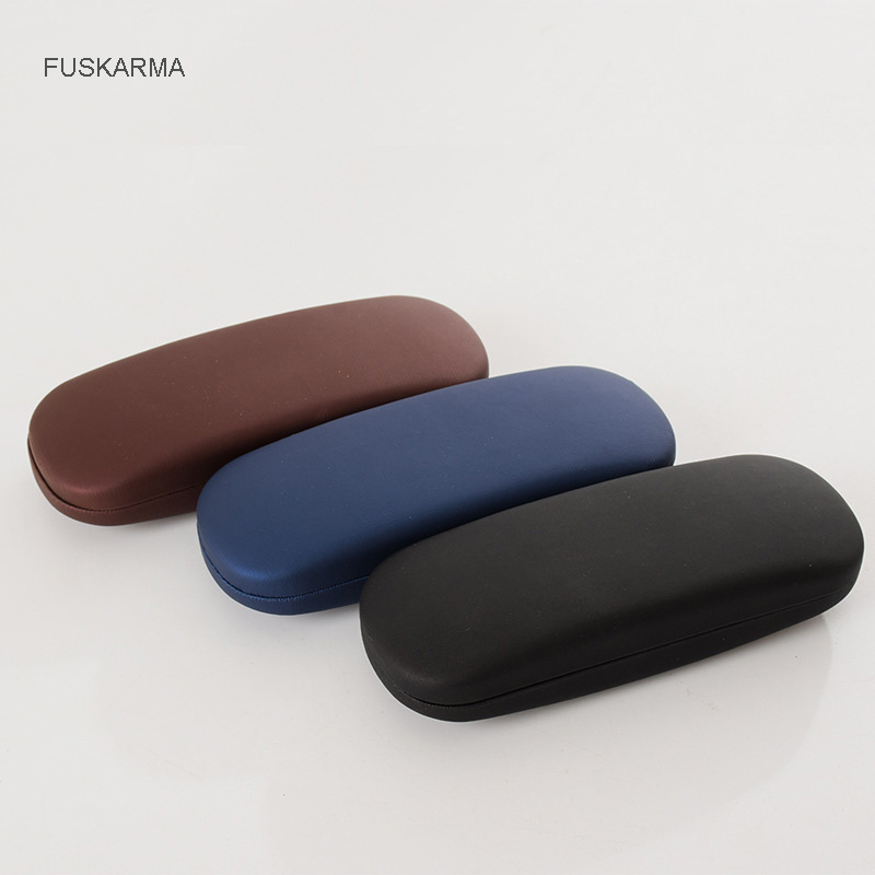 1Pcs 2019 New Portable Sunglasses Box Case Men Women Kids Leather Eye Glasses Boxes Hard Shell Protector Reading Eyewear Case