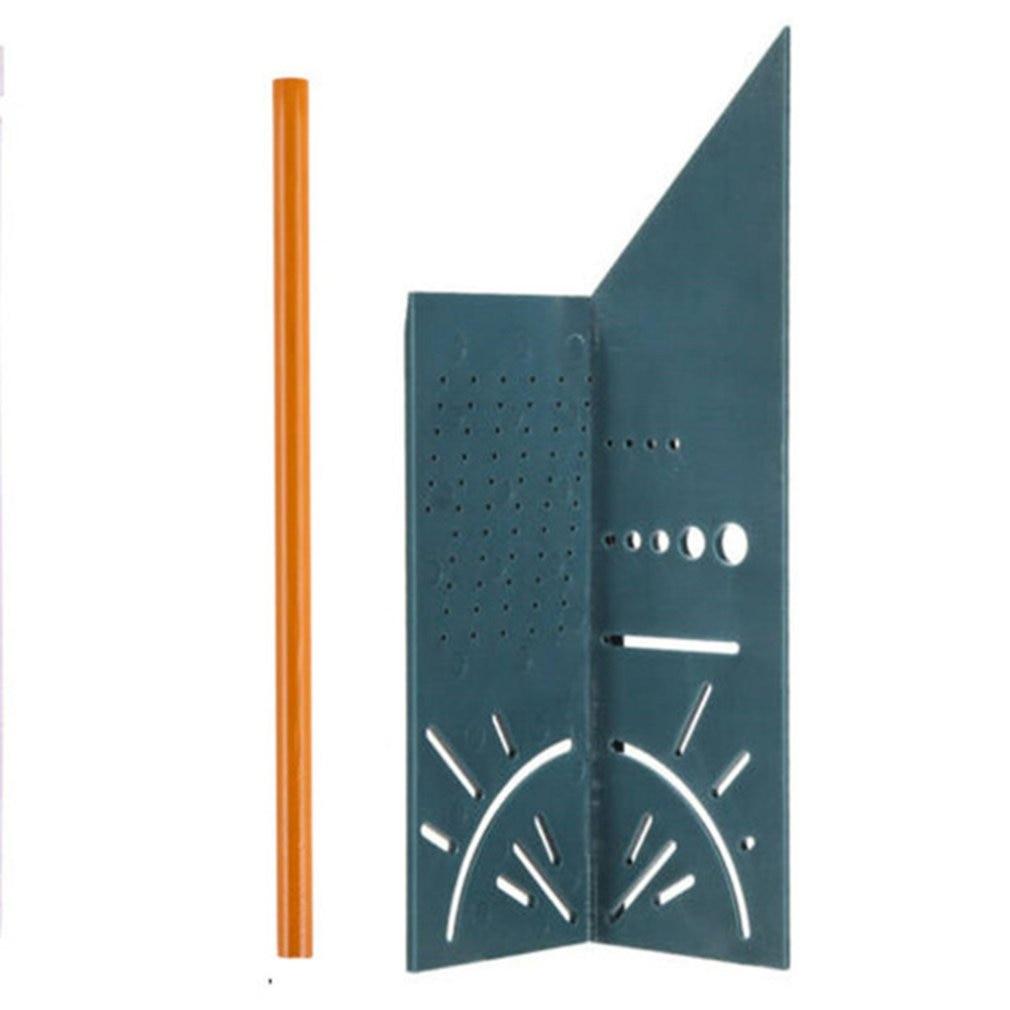 Деревообработка 3D Mitre угол измерения квадратный размер измерительный инструмент с манометром и линейкой инструменты - Цвет: Серый