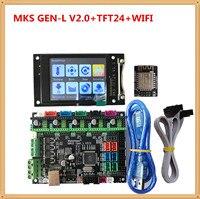 MKS GEN L V 2 0 + MKS TFT24 LCD touch screen günstige 3D elektronische karte TFT 2 4 zoll display openbuilds für 3d drucker starter-in 3D Druckerteile & Zubehör aus Computer und Büro bei