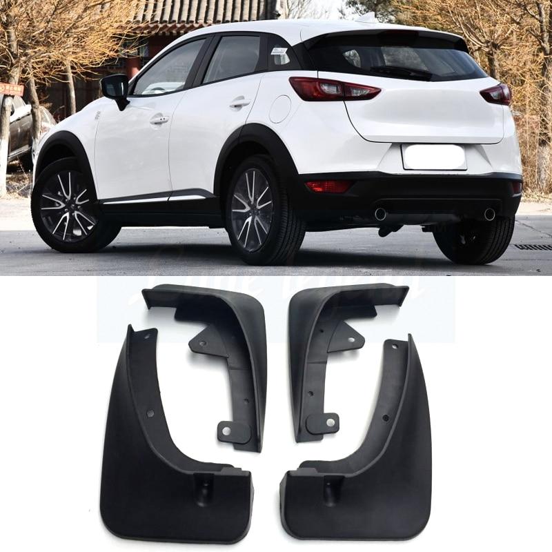 Color : Black RJJX Fit For Mazda CX-3 CX3 2017-2019 Fender Mud Flaps Mudguards Exterior Parts Products Cover Accessories 4Pcs