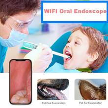 WiFi Wireless Dental Camera HD Intraoral Endoscope 8 LED Light Inspection for Dentist Oral Real-time Video Tools