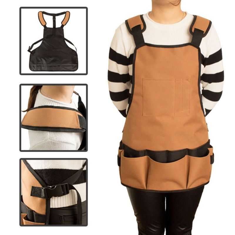 Waterproof Tool Apron Multifunctional Adjustable Belt Oxford Cloth Garden Aprons