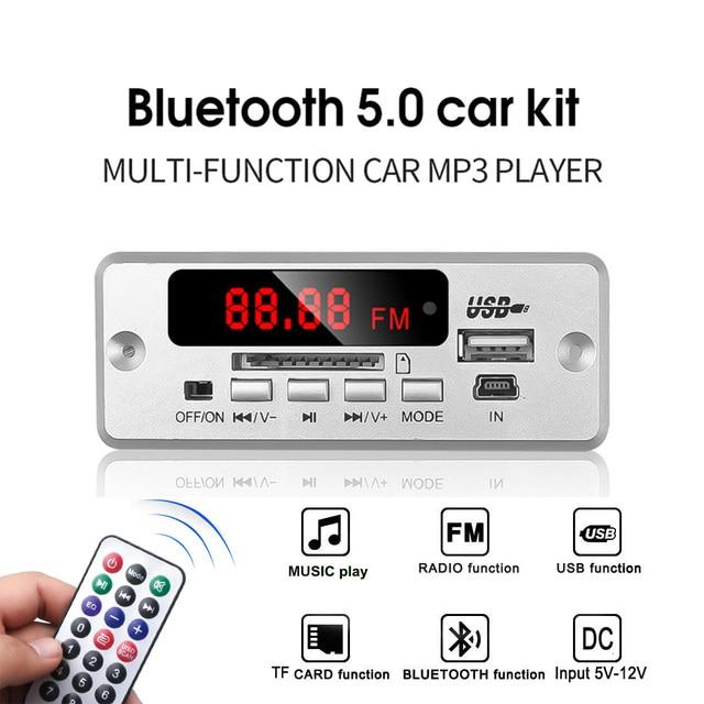 KEBIDU Wireless Bluetooth5.0 MP3 Decoding Board Module Car USB MP3 Player TF Card Slot / USB / FM / Remote Decoding Board Module