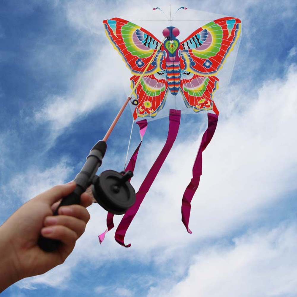 Outdoor Kites Butterfly Flying Kite Children Kids Fun Sport Toys For Children Colorful Stunt Kite Surf With Control Bar And Line