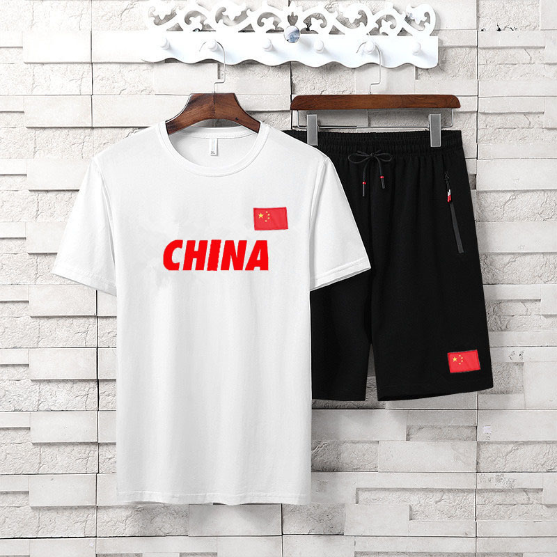 2019 New Style Summer T-shirt Shorts Casual Outdoor Sports-Style Set Men Breathable And Comfortable Two-Piece Set