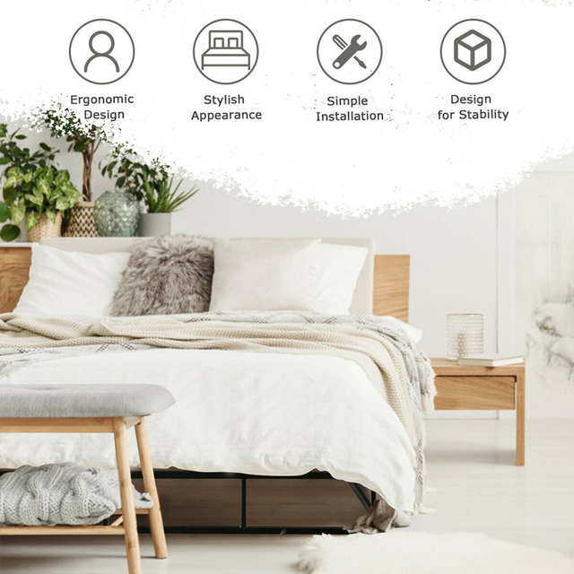 Queen Size Platform  Bed Frame  6