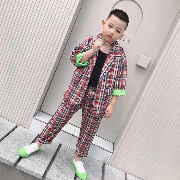 Teenager Mädchen Outfits Trainingsanzug Kinder Anzug für Mädchen Kleidung Sets Schule Plaid Jacken Hosen Anzug 10 12 Jahr Jungen Kind kleidung
