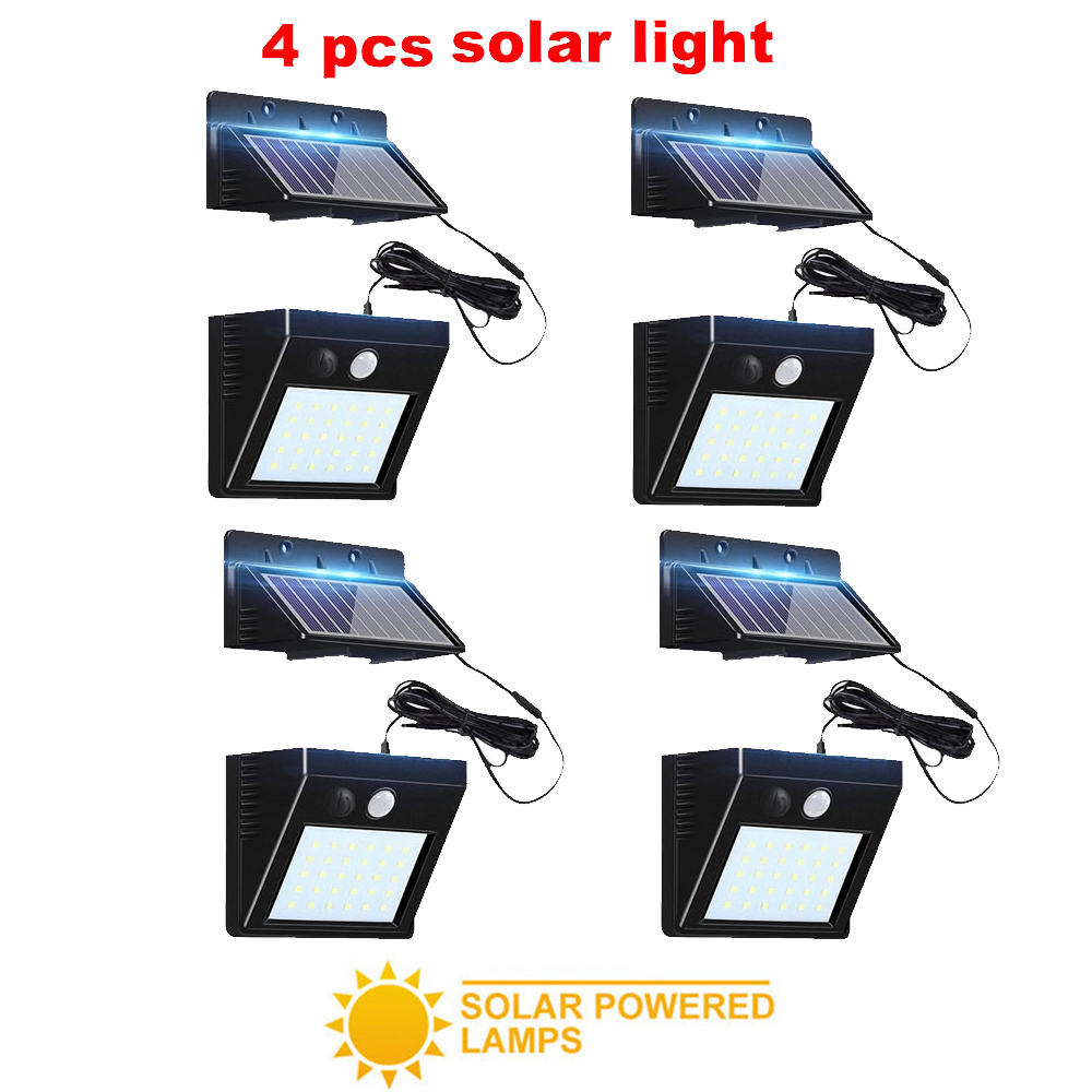 2/4pcs 100/56/30 LED Led Solar Light Outdoor Waterproof Lighting For Garden Wall Adjustable Mode Rotable Pole Solar Lamp Emergen