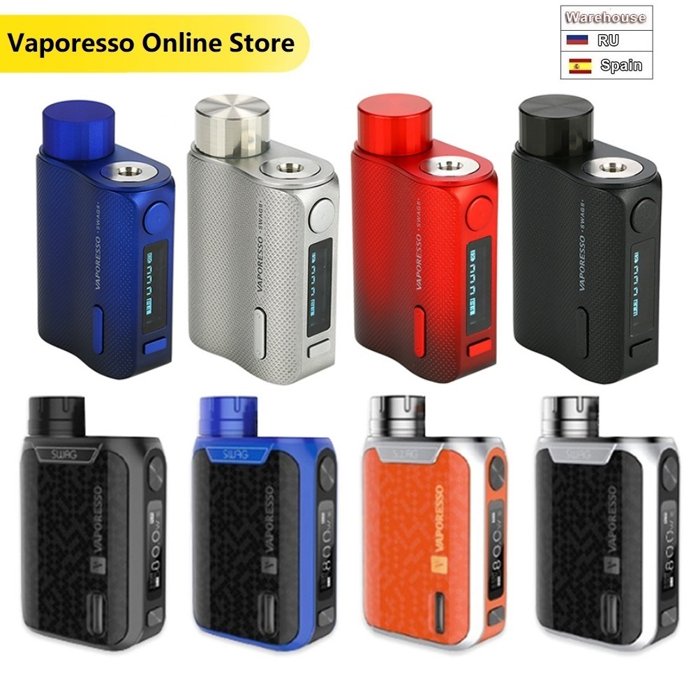 Original 80W Vaporesso Swag 2 TC Box MOD W/ 0.91-inch Screen Power By 18650 Battery Vaporesso Swag II Vs Gen Mod/ Drag 2/ Shogun