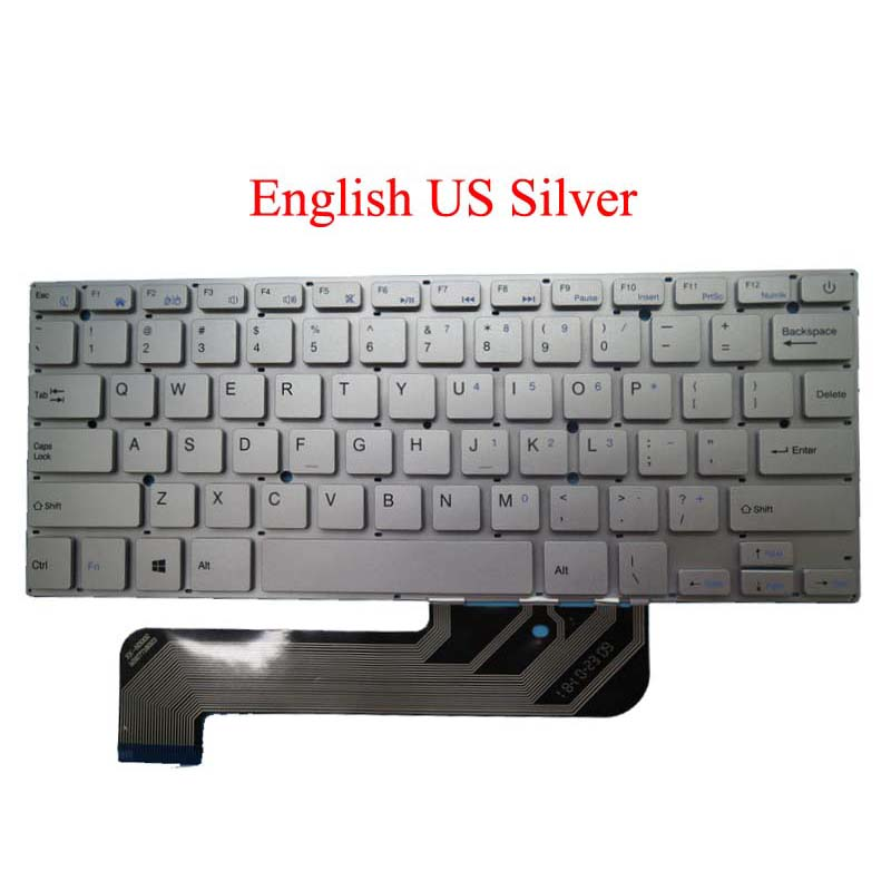 Laptop Keyboard for Irbis NB44 XK-HS002 MB27716023 Russia RU Black Without Frame New and Original