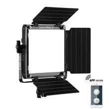 GVM Bi-Color Photography Video Studio Lighting with WiFi Remote APP Control 480 LED Light Panel Kit without Stand 480LS 3 x 150w studio fresnel tungsten light fixture with dimmer control spotlight video light kit lighting with carry case and stand