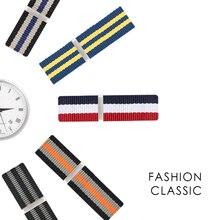 """רצועת השעון ניילון עבור המילטון ציוד חכם שעון רצועת להקות צמיד יד החלפה עבור Tissot נאט""""ו סגנון 19mm 20mm 21mm 22mm"""