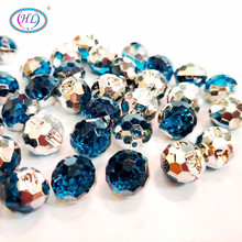 HL 40PCS 12MM Acrylic Buttons Apparel Sewing Accessories DIY Crafts