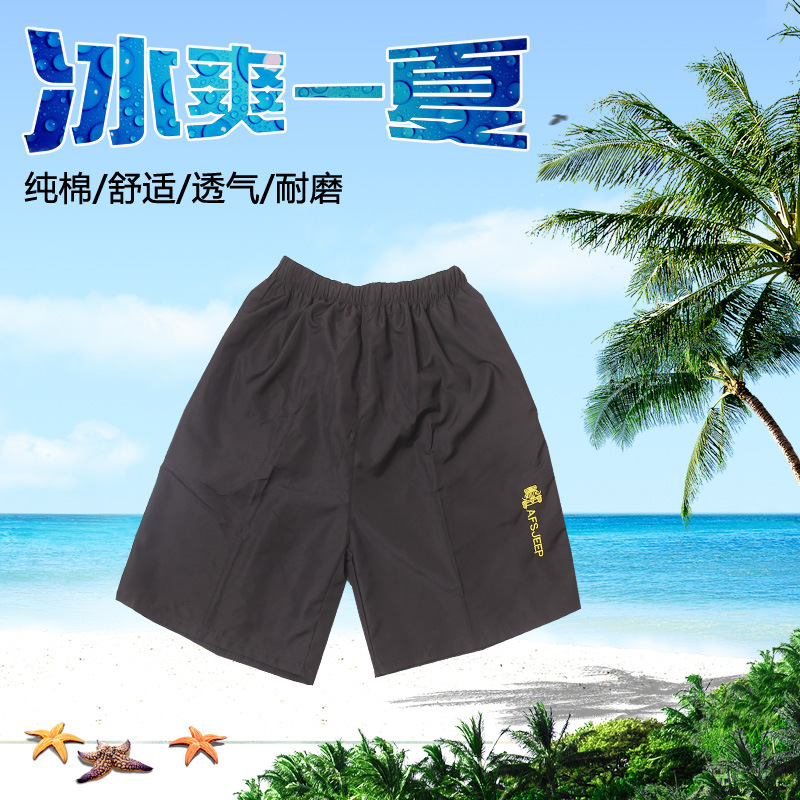 Stall New Style MEN'S Shorts Summer Wear Loose-Fit MEN'S Middle Pants Casual Sports Short Beach Shorts Large Trunks