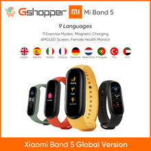 2020 Original Xiaomi Mi  Band 5  Smart Wristband Screen Bracelet Heart Rate Fitness 135mAh Bluetooth5.0 50M Waterproof