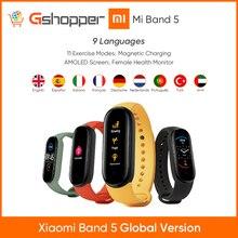 2020 originale Xiaomi Mi Banda 5 Intelligente Wristband Braccialetto Dello Schermo di Frequenza Cardiaca Fitness 135mAh Bluetooth5.0 50M Impermeabile