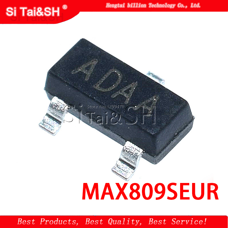 50PCS/LOT MAX809SEUR + T MAX809S Silkscreen ADAA SOT23 2.93V Level Reset IC image