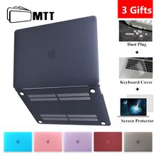 MTT Matte/Crystal Case For Macbook Air Pro Retina 11 12 13 15 With Touch Bar Hard Cover for macbook air 13.3 inch Laptop Sleeve цена и фото