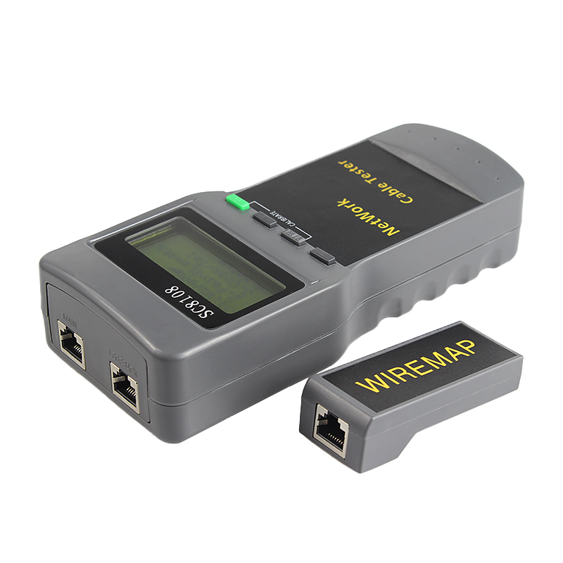SC8108 Portable LCD Wireless Network Tester Meter&LAN Phone Cable Tester With LCD Display RJ45