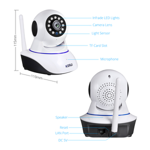 Image 5 - KERUI أمن الوطن 1080P كاميرا شبكية عالية الوضوح داخلي لاسلكي واي فاي المراقبة مع للرؤية الليلية الأشعة تحت الحمراء شبكة الإنترنت كاميرا