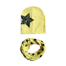 Popular Autumn Winter Children Girl Boy Cap Crochet Scarf Kids Star Hat Set Baby Going Out Keep Warm Collars 1