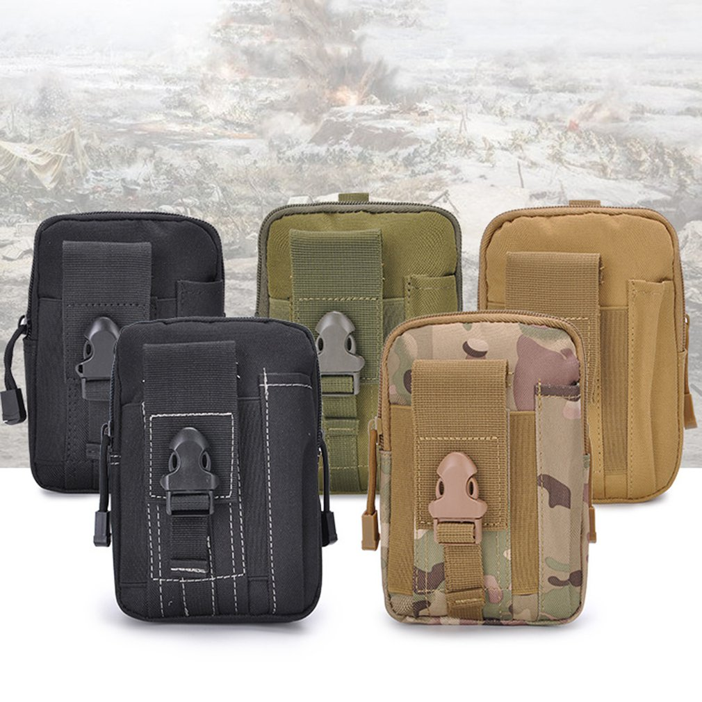 Multifunctional Outdoor Camouflage Tactical Utility Water-Resistant MOLLE Bag Mobile Phone Pocket Phone Pouch Belt Waist Cover