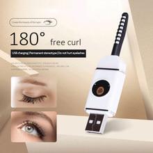 Eyelash Curler Portable Electric Heated Long Lasting Natural Eye Lashes Curling Makeup Eyelashes Curly tool USB