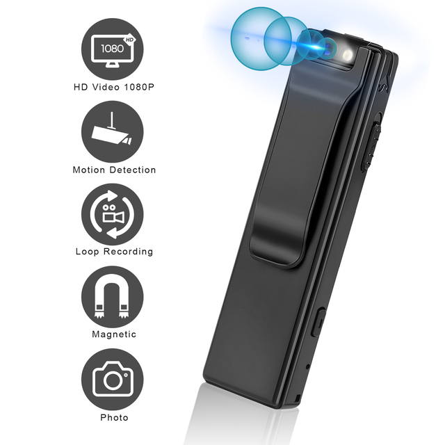 Vandlion A3 Mini Digital Camera HD Flashlight Micro Cam Magnetic Body Camera Motion Detection Snapshot Loop Recording Camcorder