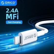 ORICO MFi yıldırım kablosu iPhone 12 2.4A hızlı şarj USB şarj veri kablosu iPhone 12 Pro Max 11 XR XS USB şarj kablosu