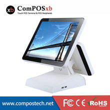 POS terminal clear payment details15 inch capacitive  touch dual screen machine for gaming room