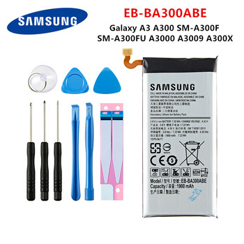 SAMSUNG Orginal EB-BA300ABE 1900mAh Battery For Samsung Galaxy A3 A300 SM-A300F SM-A300FU A3000 A3009 A300X Mobile Phone +Tools цена 2017