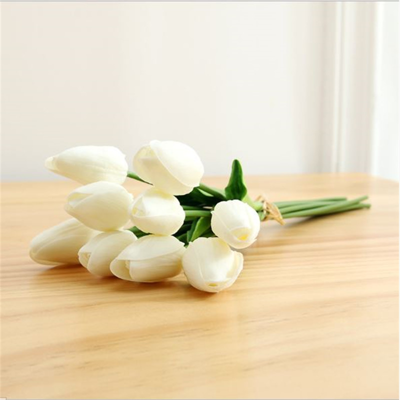 1PC PU Mini Tulips Artificial Flowers For Home And Wedding Decoration Flowers 51