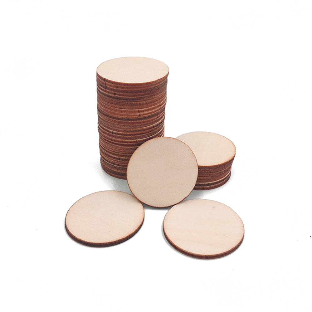 Natural Blank Wood Pieces Slice Round Unfinished Wooden Discs for Crafts Centerpieces Wooden DIY Christmas Ornaments(China)