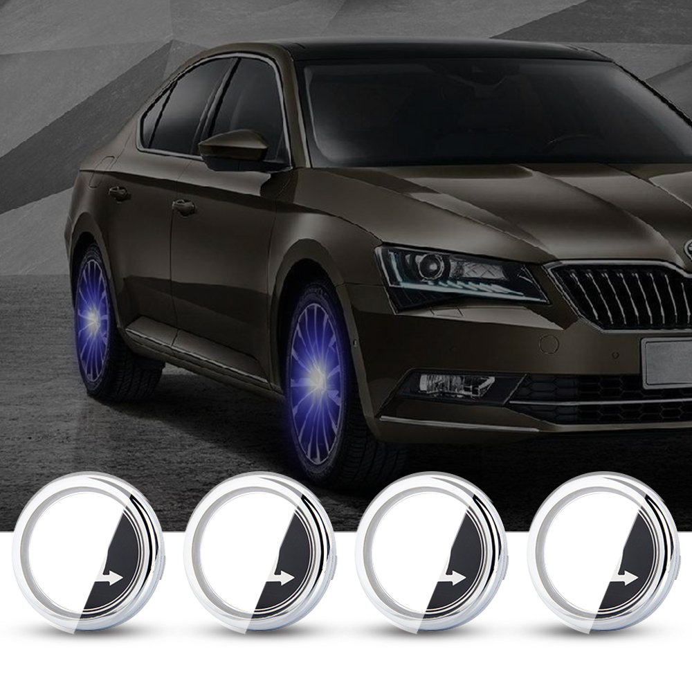 For <font><b>Skoda</b></font> 56mm <font><b>Hub</b></font> Light Lamp 4PCS <font><b>Car</b></font> Floating Illumination <font><b>Wheel</b></font> <font><b>Center</b></font> <font><b>Cap</b></font> LED Light Bulb Cover Lighting Energy Flash Auto image