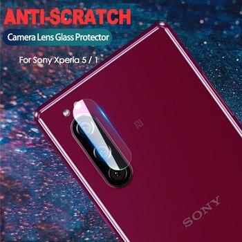 Перейти на Алиэкспресс и купить Закаленное стекло для объектива камеры sony Xperia 5, 2 шт., защитная пленка для экрана 6,1 дюйма для sony Xperia 1