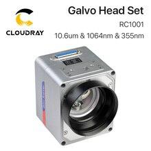 Cloudray Escaneo láser de fibra RC1001, conjunto de cabezales Galvo de 10.6um, 1064nm y 355nm, escáner de galvanómetro de 10mm con fuente de alimentación