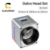 Cloudray RC1001 الألياف الليزر المسح غالفو سماعات رأس 10.6um و 1064nm و 35nm 10 مللي متر الجلفانومتر الماسح الضوئي مع امدادات الطاقة-في قطع غيار ماكينات الأعمال الخشبية من أدوات على