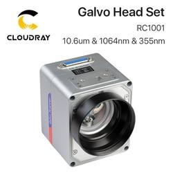 Cloudray RC1001 Fiber Laser Scanning Galvo Hoofd Set 10.6um & 1064nm & 355nm 10 Mm Galvanometer Scanner Met Voeding