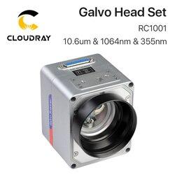 Cloudray RC1001 fibre Laser balayage Galvo jeu de têtes 10.6um & 1064nm & 355nm 10mm galvanomètre Scanner avec alimentation